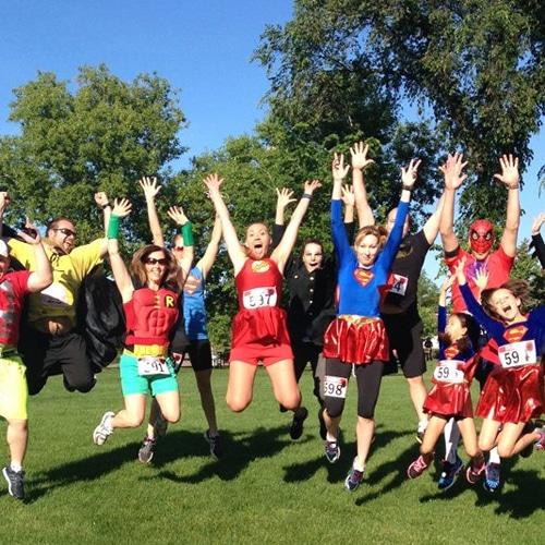 Superhero Run participants