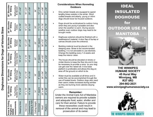 Winnipeg Humane Society Dog House brochure 1