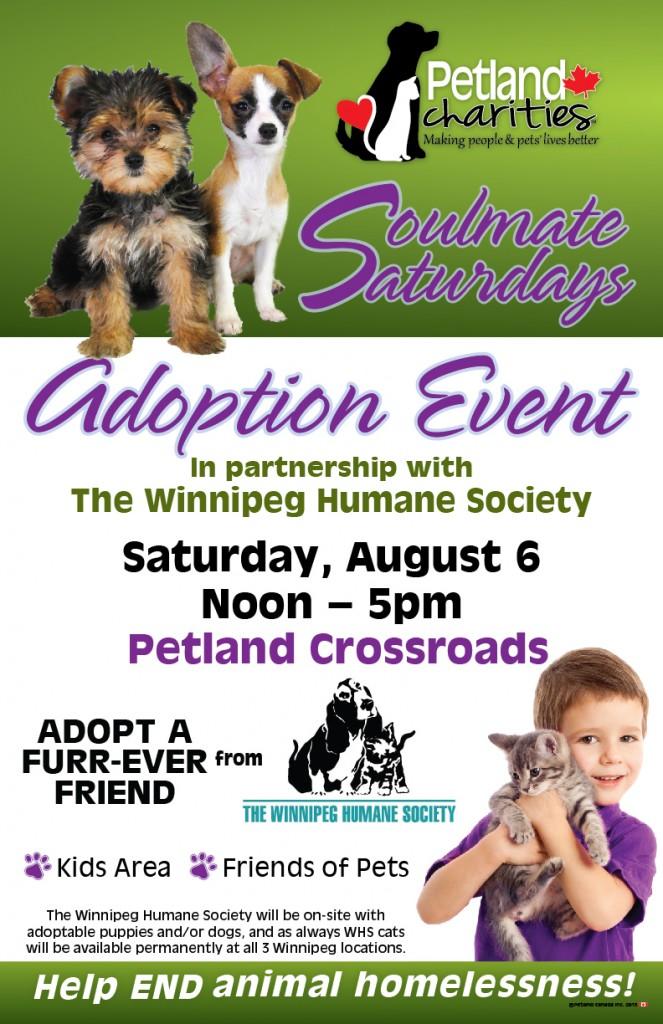 Petland Adoption Event - Soulmate Saturdays @ Petland Crossroads   Winnipeg   Manitoba   Canada