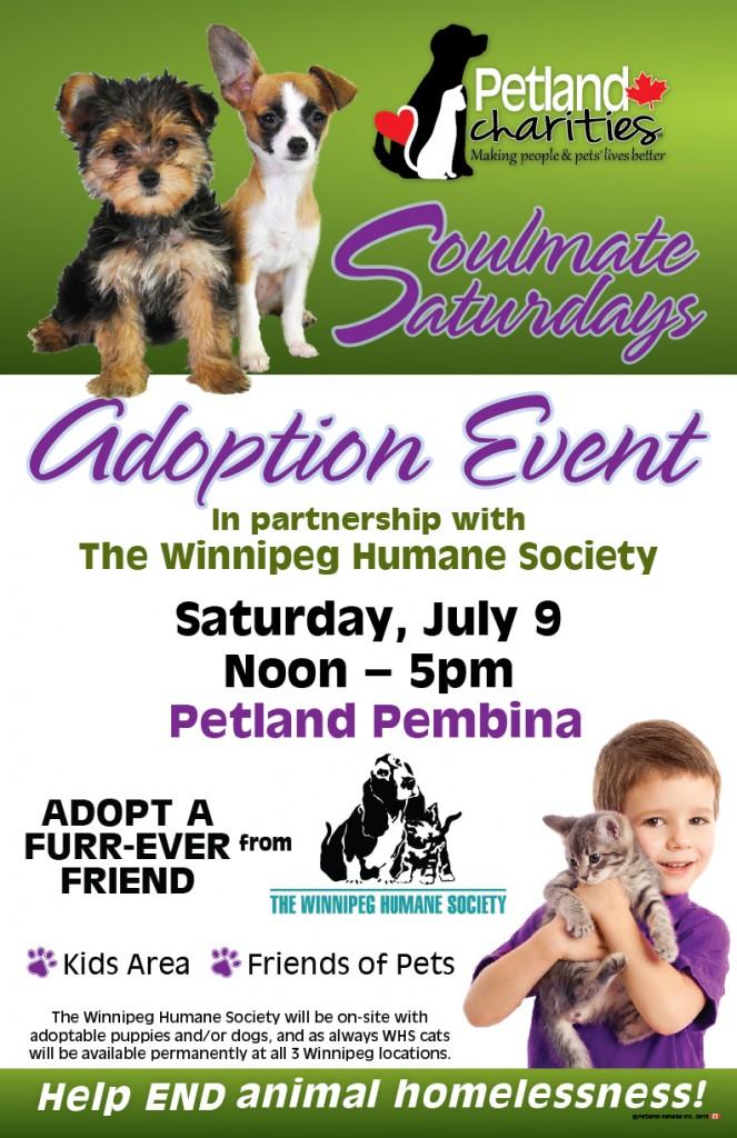 Petland Adoption Event - Soulmate Saturdays @ Petland Pembina | Winnipeg | Manitoba | Canada